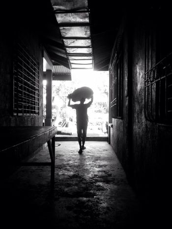 """""""Don't Turn The Lights Out"""" Full Length Indoors  Real People One Person Adult EyeEm Best Shots Eyeem Philippines EyeEm Streets EyeEm Selects Bnw Bnw_captures Bnw_streetphotography Streetphotography Bnw_street EyeEm Market © EyeEm Ready"""