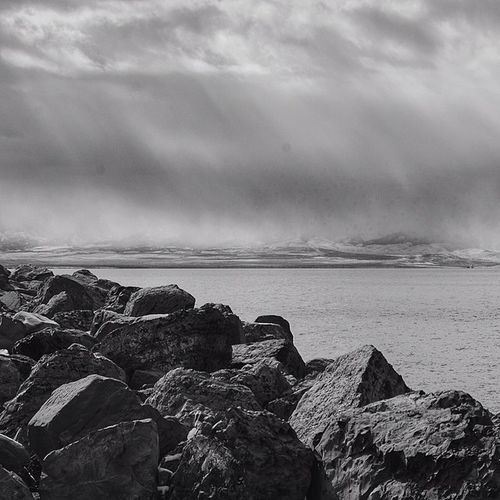 Great Salt Lake Utah Utahgram Utahgramer Landscape water slc saltlakecity beautiful westernlandscape winter water clouds ig_utah instagood bw blackandwhite