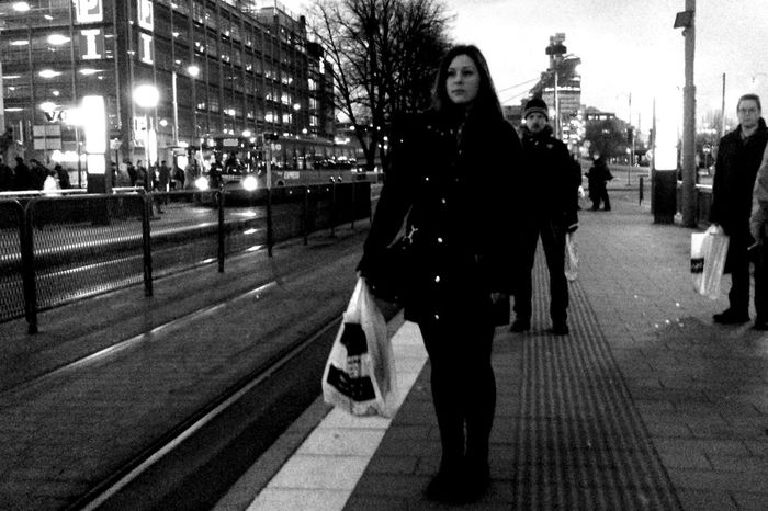 .::I Give as Good, as I Get::. Streetphotography Streetphoto_bw MADE IN SWEDEN People Watching