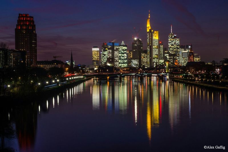 Germany Deutschland Frankfurt Am Main Frankfurt Skyline Frankfurt Skyline Long Exposure Night EyeEm Best Shots Helloworld
