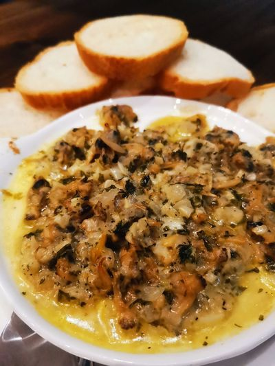 baked clam with