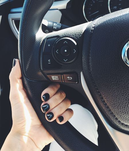 Feeling dark Florida Steering Wheel Honda Wellington  Paris Nails Photography Nexgen Manicure Human Hand Black Nail Polish Steering Wheel