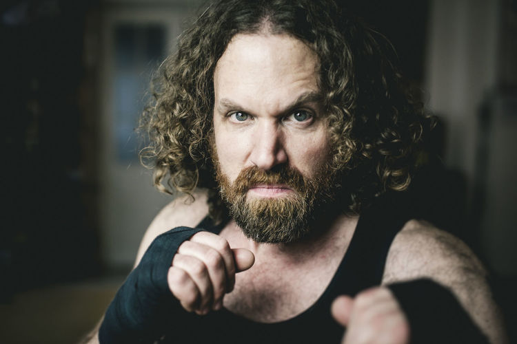 Facial Hair Beard Portrait Looking At Camera One Person Adult Mid Adult Focus On Foreground Front View Real People Indoors  Hairstyle Fighting Man Viking Kickboxing Boxing Strong Man Fight Fight Club Sports Challenge Courage Self Confidence Jean-claude Knobbe Dojo