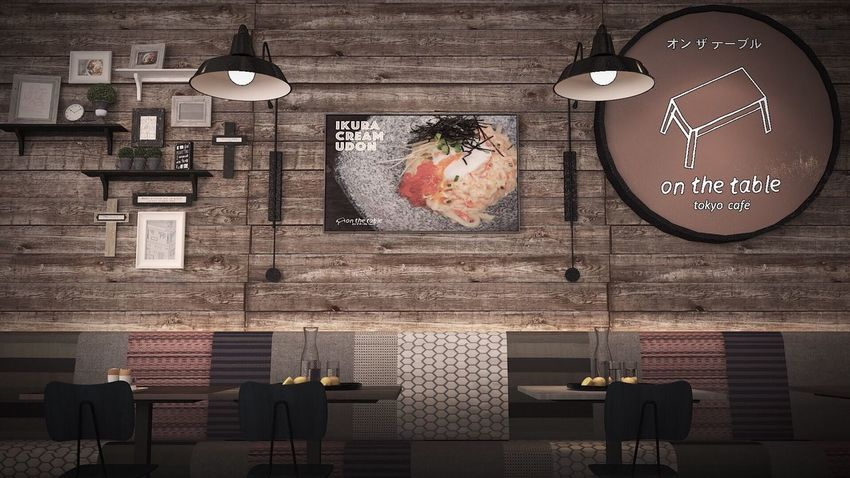Hanging Indoors  No People Illuminated Food Home Showcase Interior Photoshop 3drender Vray Interior Interior Design Restaurant Dining Table Chair Table Indoors  Lifestyles