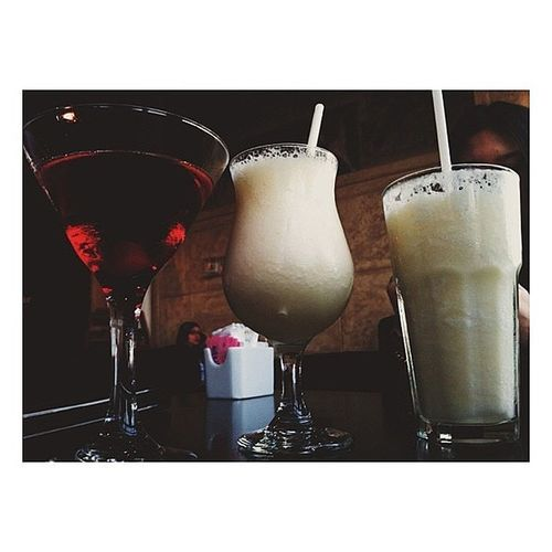 Drinks with the high school lovers at Cafe Mirage
