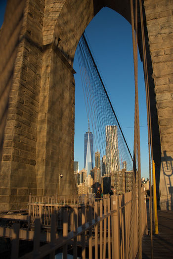 Brooklyn Bridge Architecture Built Structure Travel Destinations Transportation Connection Travel Bridge - Man Made Structure Tourism Bridge Suspension Bridge Arch City Sky Engineering Cable-stayed Bridge Nature Building Exterior Day