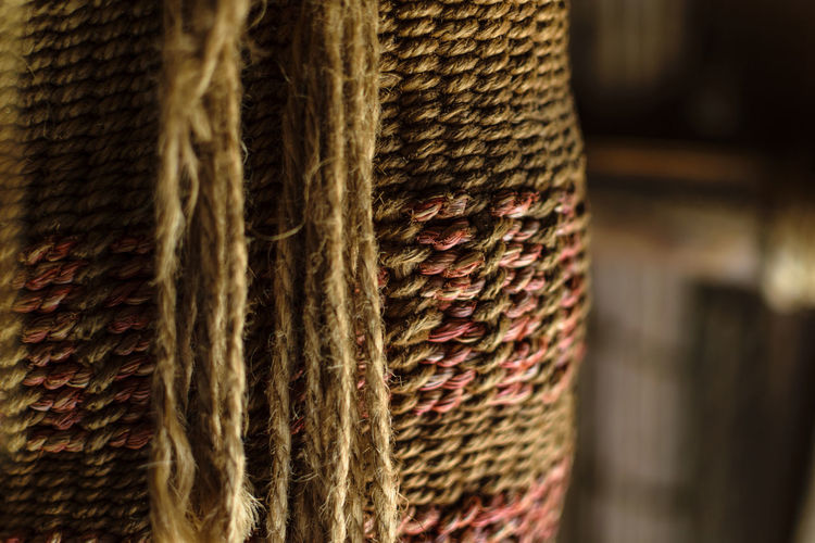 Textile Close-up Pattern Focus On Foreground Textured  No People Art And Craft Craft Wool Indoors  Thread Selective Focus Material Wood - Material Creativity Full Frame Day Backgrounds Industry Knit Hat Woven