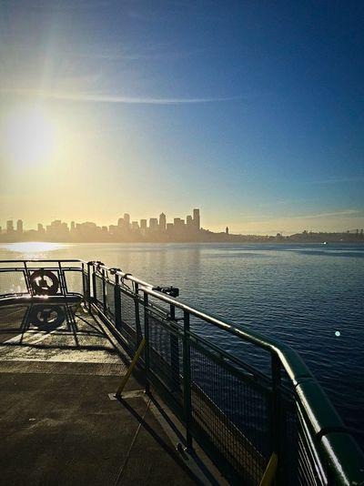 Bainbridge Island Ferry Ferry Ferry Passengers Seattle Seattle Skyline Seattle, Washington Sunrise Washington Ferry My Commute Travel Photography Travel Travel Destinations Feel The Journey On The Way