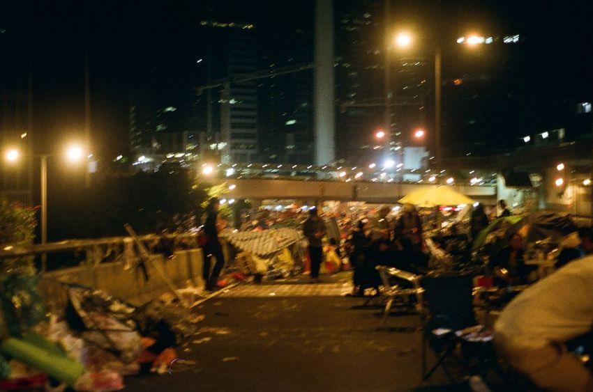 City Democracy Democracy Village HKSAR Hk Hong Kong Yellow Umbrella Admiralty Fighting Film Photography Generations Love And Peace Night People Study Room Umbrella Revolution Voice 我要真普選 雨傘運動