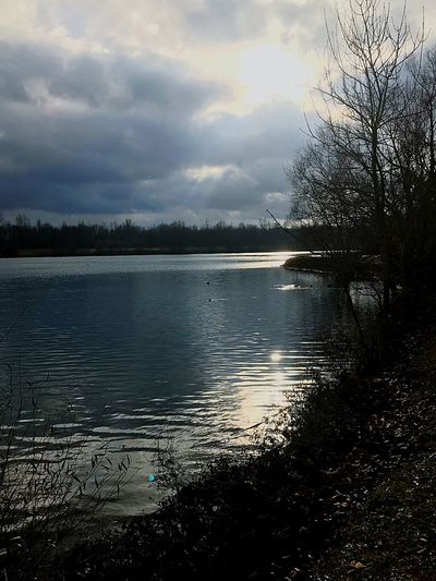 Cloudysky Sun Lake Newbie Outdoor Photography Cold Temperature first eyeem photo