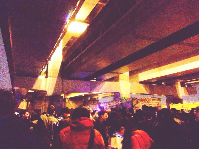 EyeEm Eye4photography  Shootbyme City Life ThisIsHowWeLive Happy New Year 2016 Party Riverside Underbridge IPhoneography