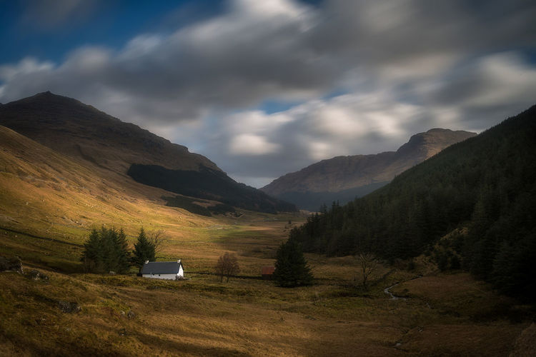 Light in the valley Scotland Landscape Cloud - Sky Dramatic Sky Mountain Scenics Nikonphotography Landscape_photography Mountain Range Mountains And Valleys Illuminated