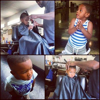 ?✂ Haircuts ✔ ? AydensFirstTimeSittingInTheChairAlone Theybothdidgood Lovemyboys