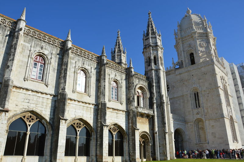 Architecture City Lisboa Portugal Lisbon - Portugal Monastero Dos Jeronimos Blue Sky History Building Worship Place