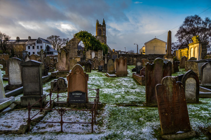Cloud - Sky Outdoors Winter No People Architecture Urban Skyline Holywood County Down Northern Ireland Old Church Winter Morning Light Snow