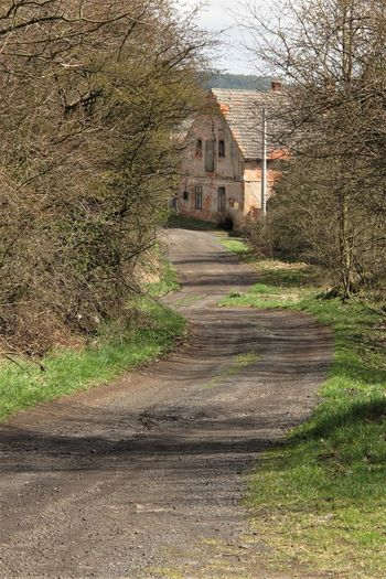 Czech Republic Abandoned Architecture Building Building Exterior Built Structure Day Direction Dirt Dirt Road Dirty Footpath House No People Old Outdoors Road Spring The Way Forward Village