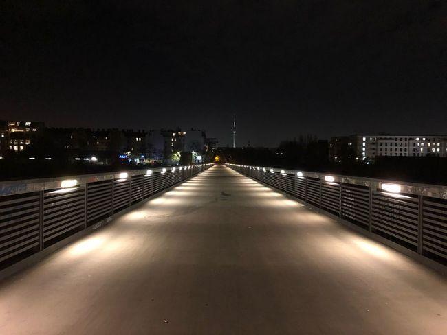 Night Lights Nightphotography Bridge View Bridges Bridge Berlin Night Illuminated Architecture Built Structure Building Exterior City Sky No People Cityscape Outdoors
