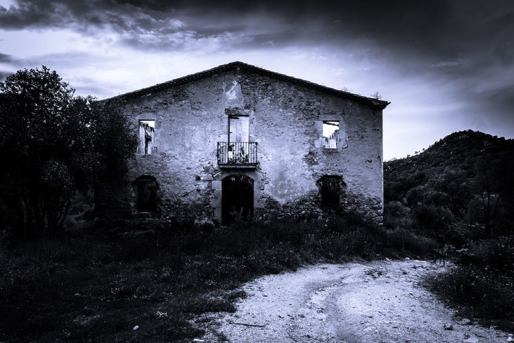 Architecture Building Built Structure Cloud - Sky Building Exterior Abandoned Sky Old Spooky No People House Run-down Nature Religion Obsolete Horror History Night Belief Fear Outdoors Dark Deterioration Ruined