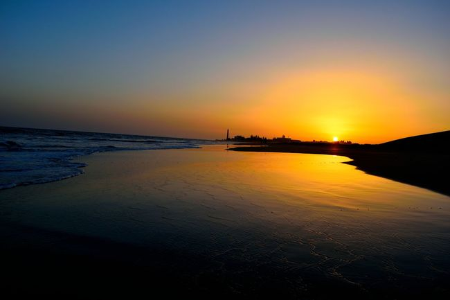 Beach Beauty In Nature Day Horizon Over Water Nature No People Outdoors Reflection Scenics Sea Silhouette Sky Sunset Tranquil Scene Tranquility Travel Destinations Water