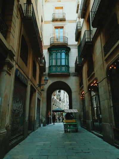 EyeEmNewHere Architecture City Building Exterior Street Folkscenery Barcelona Gothic Quarter Folks City Life SPAIN Daily Life Day Adventures In The City