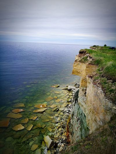 Pakri Pank Rock Cliff Clouds And Sky Love Sea Beauty In Nature Water Sea Landscape Sea And Sky Nature Photography HuaweiP9Photography HuaweiP9 Huaweiphotography Estonia Seascape Estonian Nature Estonian Landscape