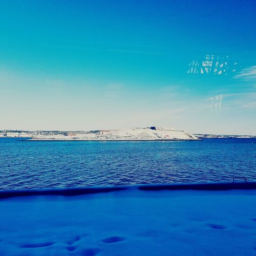 Shades Of Winter Sea Beach Blue Horizon Over Water Sky Scenics Nature Beauty In Nature Outdoors Clear Sky Tranquility Vacations Water No People