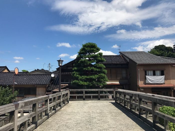 Architecture Sky Built Structure Building Exterior Cloud - Sky Tree Day No People Holiday Water Travel Photography Nature Japan Photography Clouds And Sky Traveling Bridge Landscape Beauty In Nature Tree