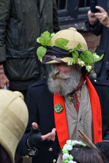 Jack In The Green Festival Jack In The Green Hastings May Day May Day 2017 Helmet Character Bearded Man Headwear Carnival - Celebration Event Arts Culture And Entertainment East Sussex Happy Green Color Traditional Festival Fashion Celebration Traditional Clothing Adult Day One Man Only Funny Beard Cultures Men