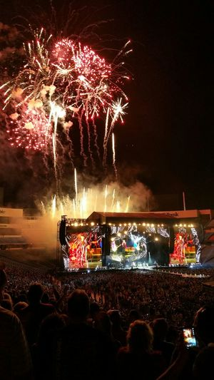 2015-JUL-11 Rolling Stones Zip Code Tour encore fireworks finale. Rollingstones Zipcode Spectacular Fireworks Sound Of Life For The Love Of Music