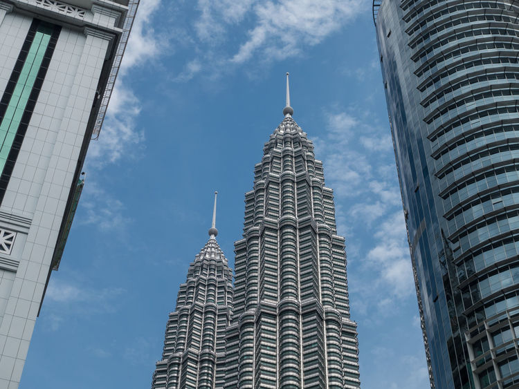 Petronas Towers and Blue Sky Architecture ASIA Building Exterior Buildings Built Structure Business Finance And Industry City Cityscape Cloud - Sky Day Kuala Lumpur Malaysia No People Outdoors Petronas Petronas Twin Towers Sky Skyscraper Tower Towers Travel Travel Destinations Urban Skyline