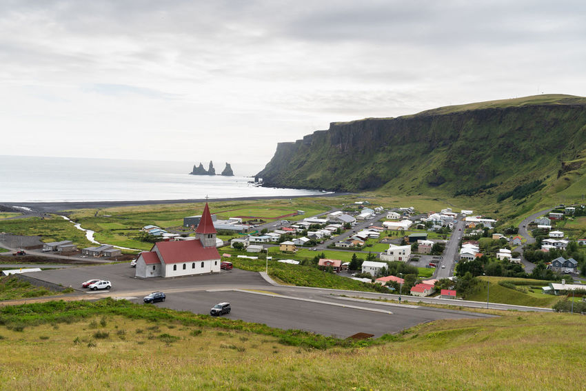 Iceland Architecture Beautifuliceland Beauty In Nature Building Building Exterior Built Structure Car Cloud - Sky Day Land Mode Of Transportation Motor Vehicle Nature No People Outdoors Plant Road Scenics - Nature Sea Sky Transportation Water