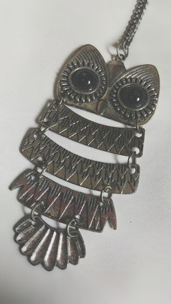 really love this old Necklace Owl Vintage Fashion