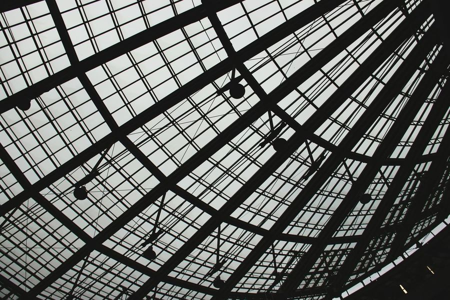 Airport Indoors  Pattern Low Angle View Full Frame Backgrounds Architecture Sky The Architect - 2017 EyeEm Awards Let's Go. Together.
