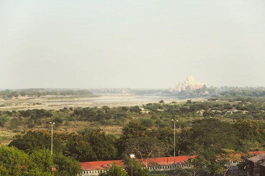 View of the Taj Mahal from Agra Fort.. Tajmahal AgraFort Rachatravelsindia