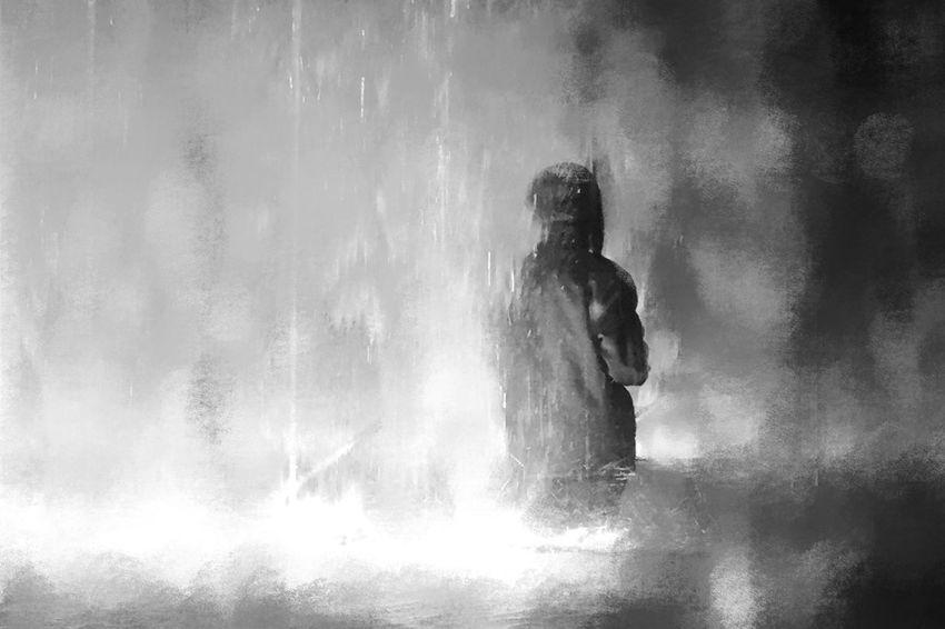 EyeEm Best Shots One Person Water Nature Lifestyles Adult Motion Women Leisure Activity Real People Splashing Wet Fun Standing Refreshment Enjoyment Outdoors Drop Men Spraying
