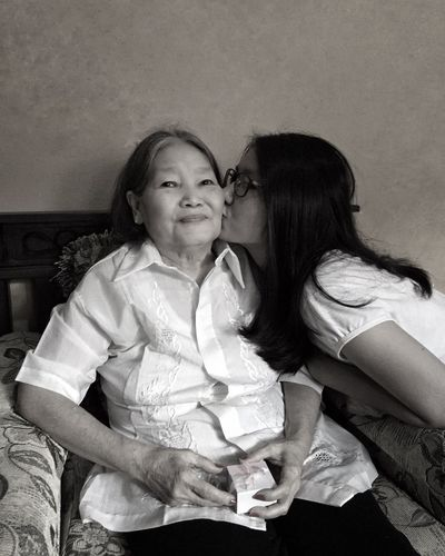 I love you Grandma... Women Females Togetherness Child Girls Real People This Is Family Emotion Two People Family Love Positive Emotion Happiness Portrait People Bonding 2018 In One Photograph