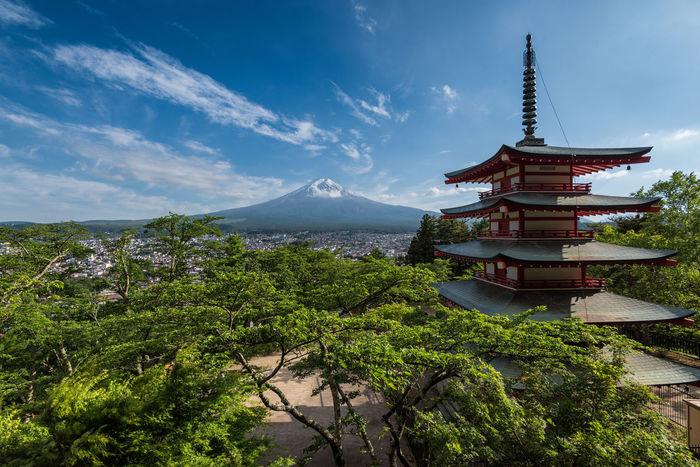Beautiful Beautiful Nature Chureito-pagoda Green Japan Japan Photography Kawaguchi Lake Pagoda Sky Yamanashi