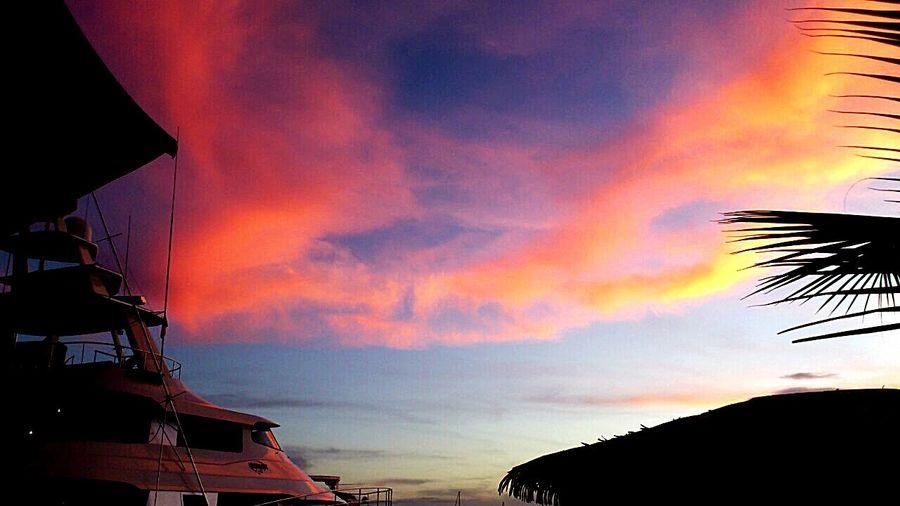 Sunset And Clouds  Tahiti Sunset Tahiti Showcase June