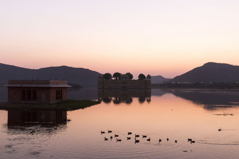 Jal Mahal, Jaipur, 2016 2016 Beauty In Nature India Jaipur Jal Mahal Morning Morning Light No People Reflection Sunrise Water