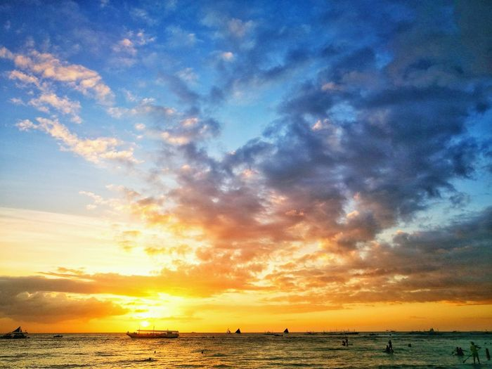 Cotton Candy Sunset at Boracay Beachphotography Cottoncandyskies Boracay Philippines Aklan, Philippines Philippines Philippine Beaches HuaweiP9 Huaweiphotography Huawei P9 Leica Cottoncandyclouds Sunset_collection Sunset Clouds And Sky Cloud - Sky Tranquil Scene Sand Nature Majestic Landscape Beauty In Nature Tranquility Water Reflection Vacations Colour Your Horizn