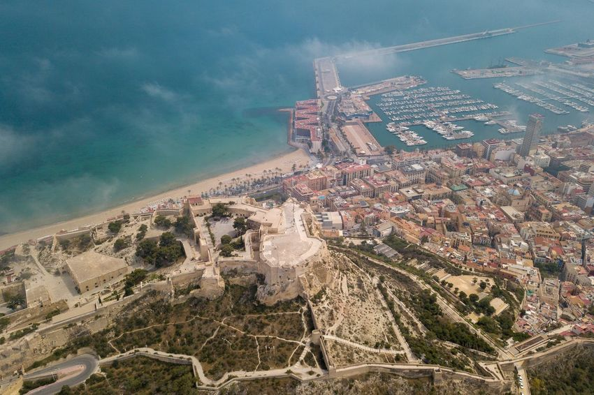 Alicante, Spain Building Exterior Built Structure Architecture High Angle View Nature Water City Aerial View Sea Residential District Cityscape Building Day No People Outdoors Travel Destinations Sky Tourism Office Building Exterior