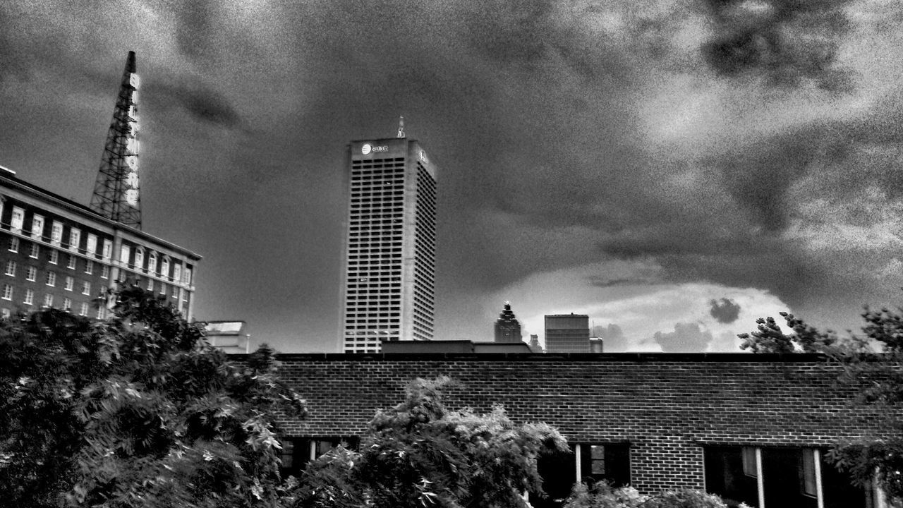 architecture, building exterior, built structure, sky, city, cloud - sky, outdoors, no people, day, low angle view, tree, modern, skyscraper