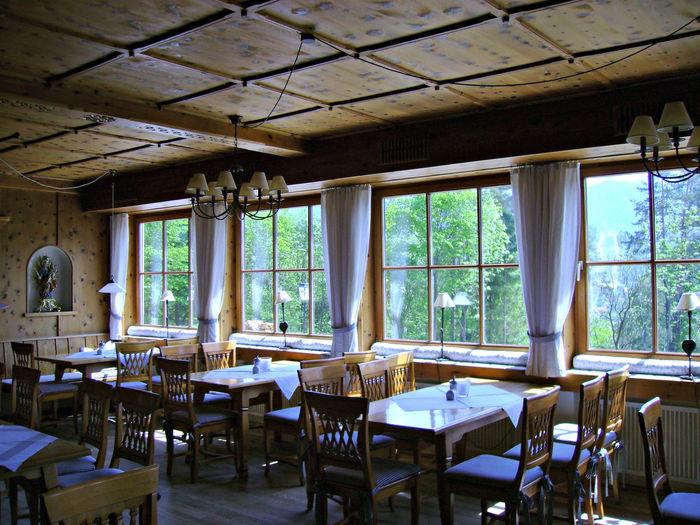 Bavarian Tradition Chair Dining Room Domestic Room Furniture No People Window Wood Plank Zirbenholz
