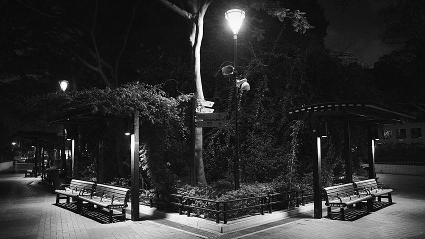 Night Park B/W HongKong Discoverhongkong Leicaq Leica Night Streetphoto_bw Streetphotography Light And Shadow Night Lights Walking Around