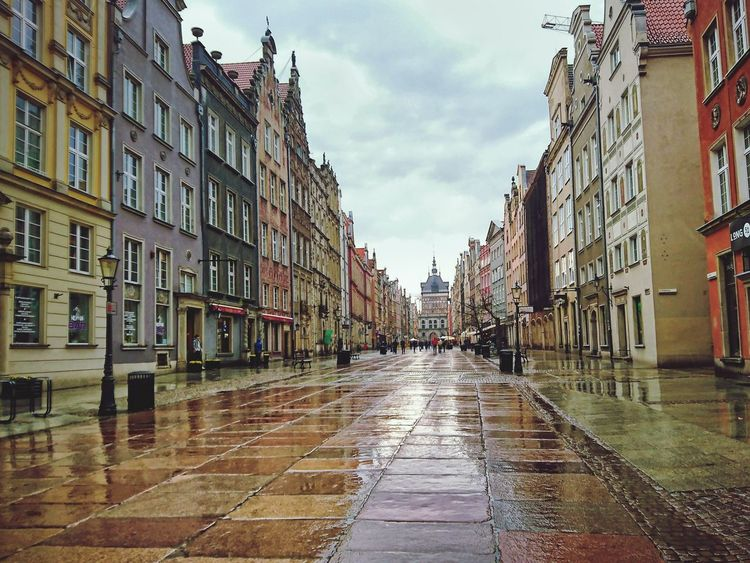 City Architecture Building Exterior Outdoors Sky Gdansk City Poland Oldtown Polen