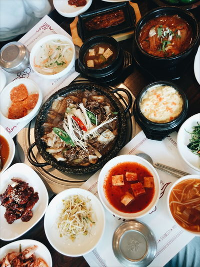 Korean Traditional Food Korean Food Korea Jeollabukdo Jeollado Korean Side Dishes Side Dishes  Bulgogi traditional korean meal and side dishes Koreanfood