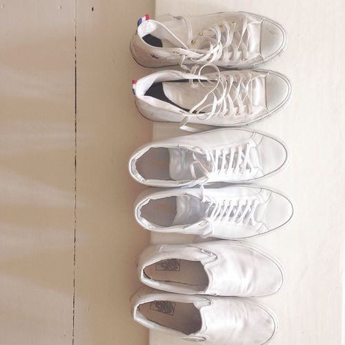 Chucks Common Projects Vans love white shoes