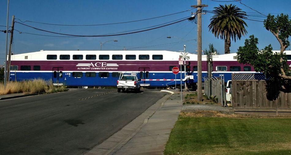 Ace Train Altamont Commuter Express Railroad Railway Railroad Crossing Level Crossing Stockton San Jose, Ca