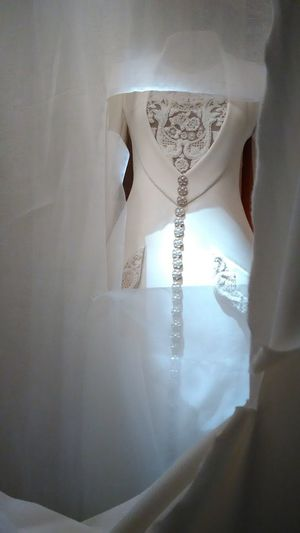 White Sneeky Blazer - Jacket Embroidery Sheer Antique Vintage Haute Couture Water