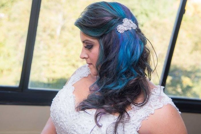 Peacock Colors Colored Hair Dontcare Peacock Bright Colors Bride Something Blue